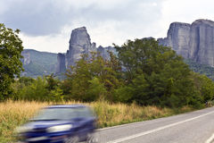 Road near Kalambaka area in Greece Royalty Free Stock Photos