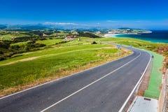 Road near La Revilla, north Spain Stock Images