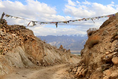 The road near Leh city in Ladakh (India) Stock Images