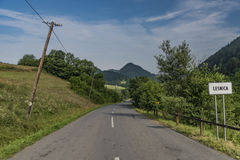 Road near Lesnica village in Pieniny national park Stock Image