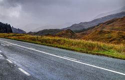Road near Loch Garry Royalty Free Stock Photography