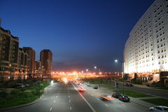 Road near ministry (Astana). Road near ministry of oil and gas is in Astana Kazakhstan Stock Photos