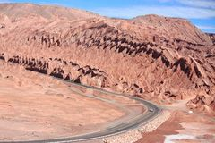 Road near San Pedro de Atacama (Chile) Stock Photography