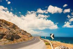 Road near the sea Royalty Free Stock Photo
