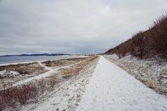 Road near the sea Stock Photo