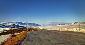 Road near Sysenvatnet Royalty Free Stock Photography