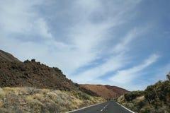 Road near the teide volcano Royalty Free Stock Image