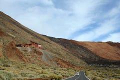 Road near the teide volcano Royalty Free Stock Photos