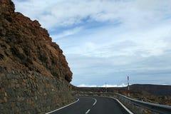 Road near the teide volcano Stock Photo