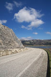 Road near to the lake Stock Image