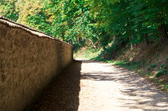 Road near the wood Stock Photography