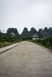 The road nearby li river Royalty Free Stock Photography