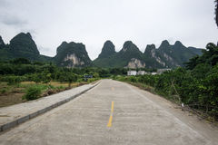 The road nearby li river Royalty Free Stock Photo