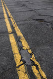 Road in need of repair Stock Photography