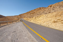 Road in Negev Royalty Free Stock Image