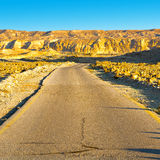 Road in Negev Royalty Free Stock Photography