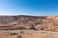Road in the Negev desert Stock Image