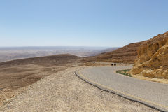 Road in the Negev desert Royalty Free Stock Photos