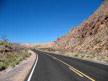 Road in Nevada Royalty Free Stock Images