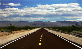 Road, Nevada. Empty road, Mojave Desert, Nevada Stock Images