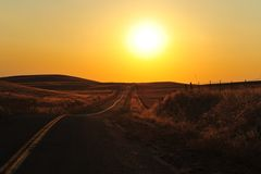 Road in Nevada desert. In USA royalty free stock photos