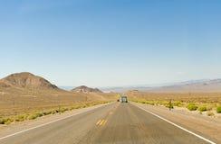 Road through Nevada desert Stock Photos