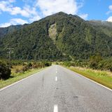 Road in New Zealand Stock Images