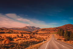 Road through New Zealand Stock Image