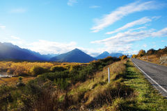 Road in New zealand Royalty Free Stock Photo