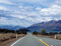 On the Road in New Zealand Royalty Free Stock Photo