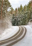 Road ni a winter. Stock Image