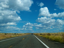 On the road in a nice day Royalty Free Stock Photography