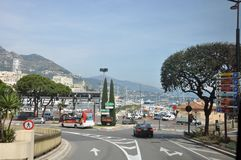 Monaco transport highway royalty free stock photos