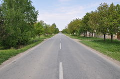 The Road. Nice road in the village stock photography