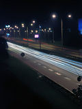 Road by night Royalty Free Stock Photo