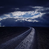 Road in night Royalty Free Stock Images