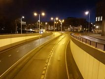 A road at night  Stock Images