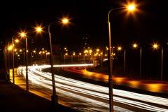 Road Night City Stock Photos