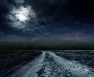 Road in the night Royalty Free Stock Image