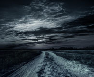 Road in the night Royalty Free Stock Images