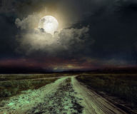 Road in the night Stock Photos