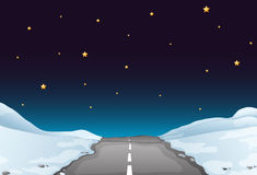 Road at night Royalty Free Stock Photo
