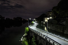 The Road in The Night Royalty Free Stock Images