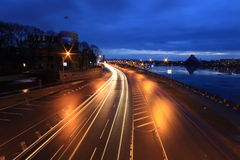 Road at the night Royalty Free Stock Photography