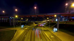 Road at night, time-lapse. Road at night, time - lapse stock footage
