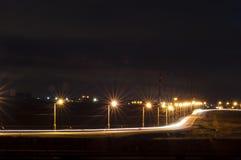 Road at night Royalty Free Stock Image