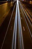 Road with night traffic Royalty Free Stock Photography
