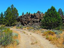 Road on the North End. North end of Steamboat Rock - west of Terrebonne, OR royalty free stock images