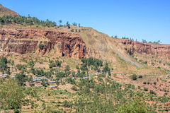Road in north Ethiopian mountains Royalty Free Stock Image