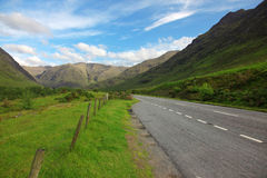 Road in North part of  Scotland Stock Image